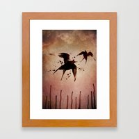 On your fears,  ... swallow them.   Framed Art Print