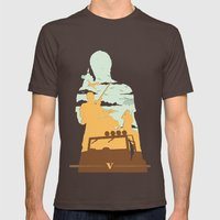 GTA V - TREVOR PHILIPS Mens Fitted Tee Brown SMALL