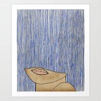 Rain Girl Art Print