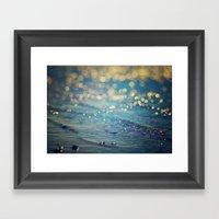 Beach Bokeh Framed Art Print