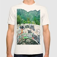 Pit In The Canyon Mens Fitted Tee Natural SMALL
