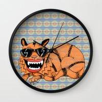 Kickflip Cat Wall Clock