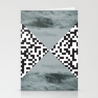 waves/grid #3 Stationery Cards