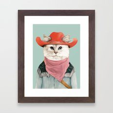 Rodeo Cat Framed Art Print