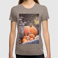 Pumpkins + Milk Cans Womens Fitted Tee Tri-Coffee SMALL