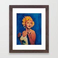 Marilyn Blue Framed Art Print