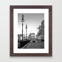 WHITEOUT : Brooklyn Brid… Framed Art Print