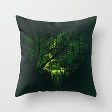 Heart of Darkness Throw Pillow