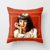 Mia Thurman Throw Pillow