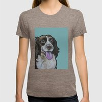 Bea the Springer Spaniel Womens Fitted Tee Tri-Coffee SMALL