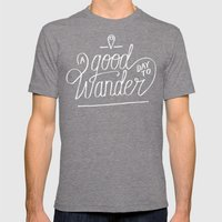 Good Day to Wander Mens Fitted Tee Tri-Grey SMALL
