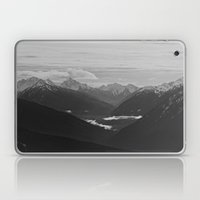 Mountain Landscape Black and White Laptop & iPad Skin