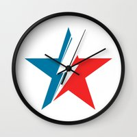 Bowie Star white Wall Clock