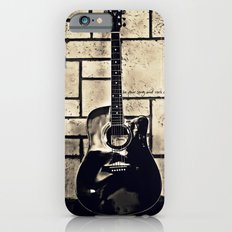 Be Your Song and Rock On in Black iPhone 6s Slim Case