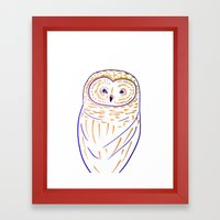 The Owl. Owl art, owls, owl print, owl illustration, nature, animals, children's  Framed Art Print