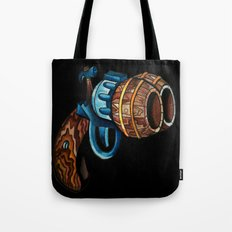 Black Double Barrell Tote Bag