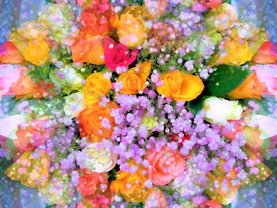 Bokeh Bouquet Art Print