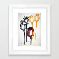 Poppy Study Framed Art Print