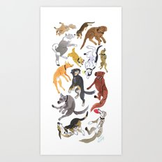 Dogs! Art Print