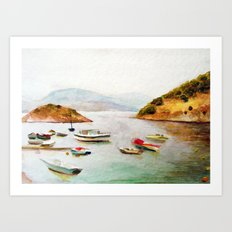 EYGENIA LOGVYNOVSKA , SEA Art Print