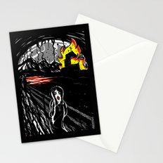 black scream Stationery Cards