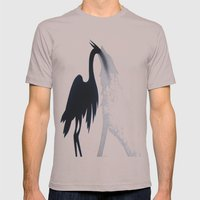 Wolf and the Heron Mens Fitted Tee Cinder SMALL