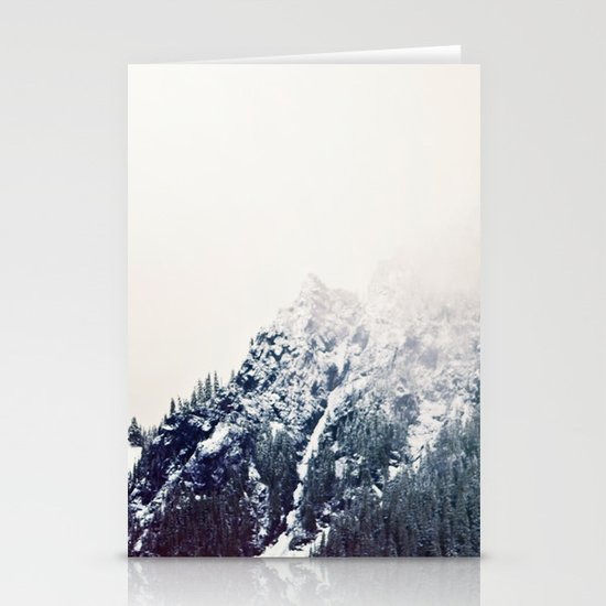 Vintage Snowy Mountain Stationery Card