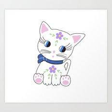 Bella the cat Art Print