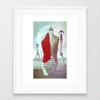 The king's burden Framed Art Print