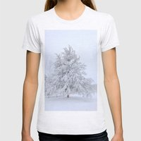Winter Wonderland Womens Fitted Tee Ash Grey SMALL