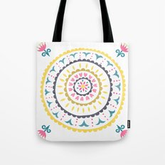 Suzani inspired floral blue 1 Tote Bag