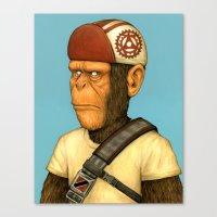 Messenger Monkey Canvas Print