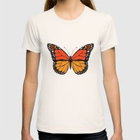 Monarch butterfly Womens Fitted Tee Natural SMALL