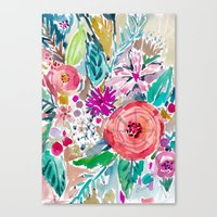 High by the Beach Floral Canvas Print