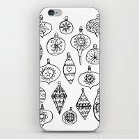 Retro Christmas Ornaments iPhone & iPod Skin