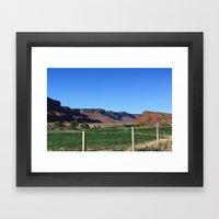 Canyon Farm Framed Art Print