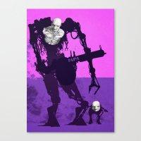 Papa Cyborg Baby Cyborg Canvas Print