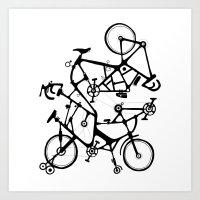 bike tuneup Art Print