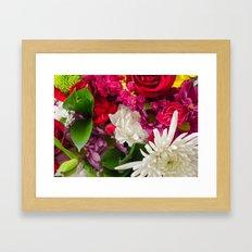 garden of flowers Framed Art Print