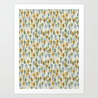 64 Popular People and a Dog (Pattern) Art Print