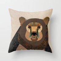 Bear Collage Throw Pillow