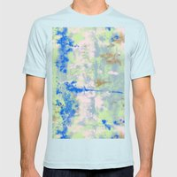 Tie Dye Mens Fitted Tee Light Blue SMALL
