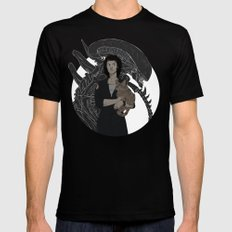 Alien Black Mens Fitted Tee SMALL