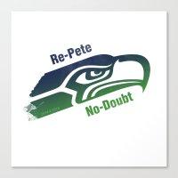 Re-Pete Seahawks! Canvas Print