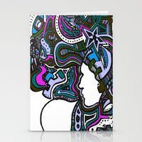 Purple Techno Stationery Cards