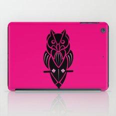 Owl - simple design - PINK iPad Case