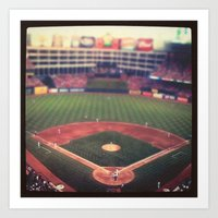 At The Ballpark   Art Print