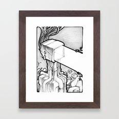 TV Blast sketch Framed Art Print