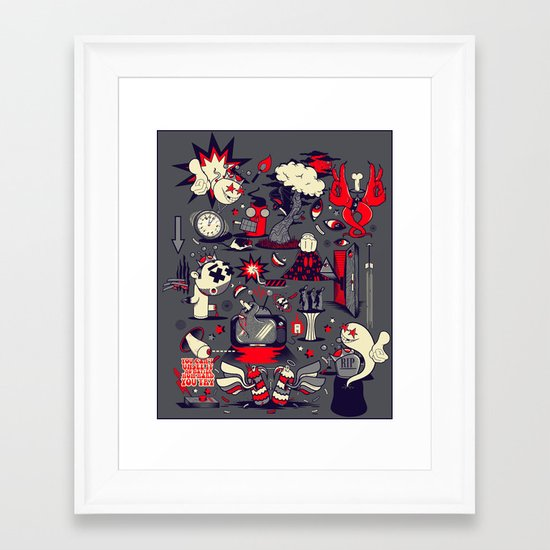 From The Womb To The Tomb Framed Art Print