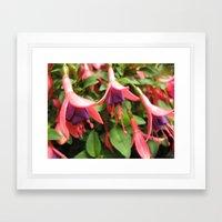 Floral Chandelier  Framed Art Print